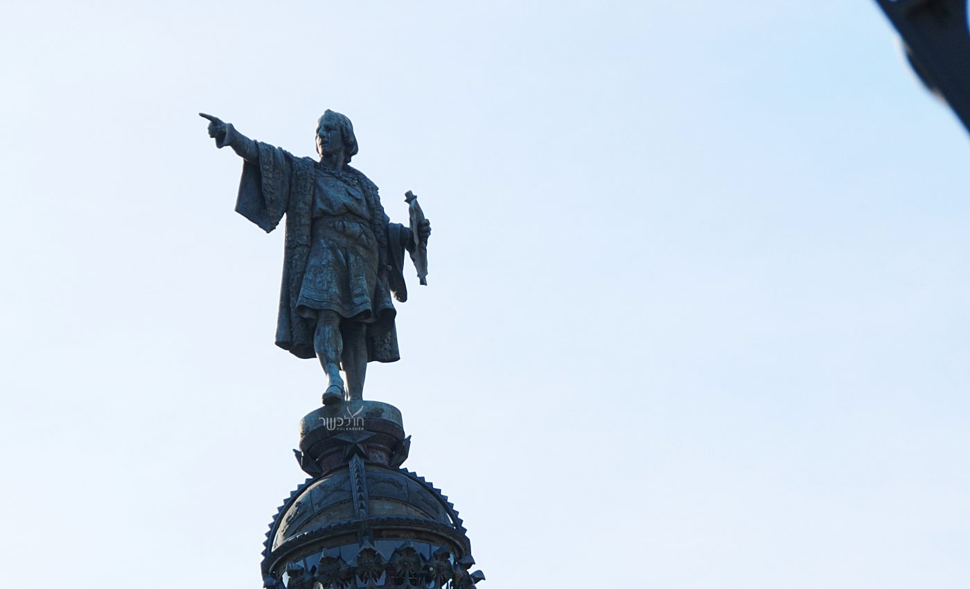 פסל קולומבוס בקצה שדרה הרמבלה
