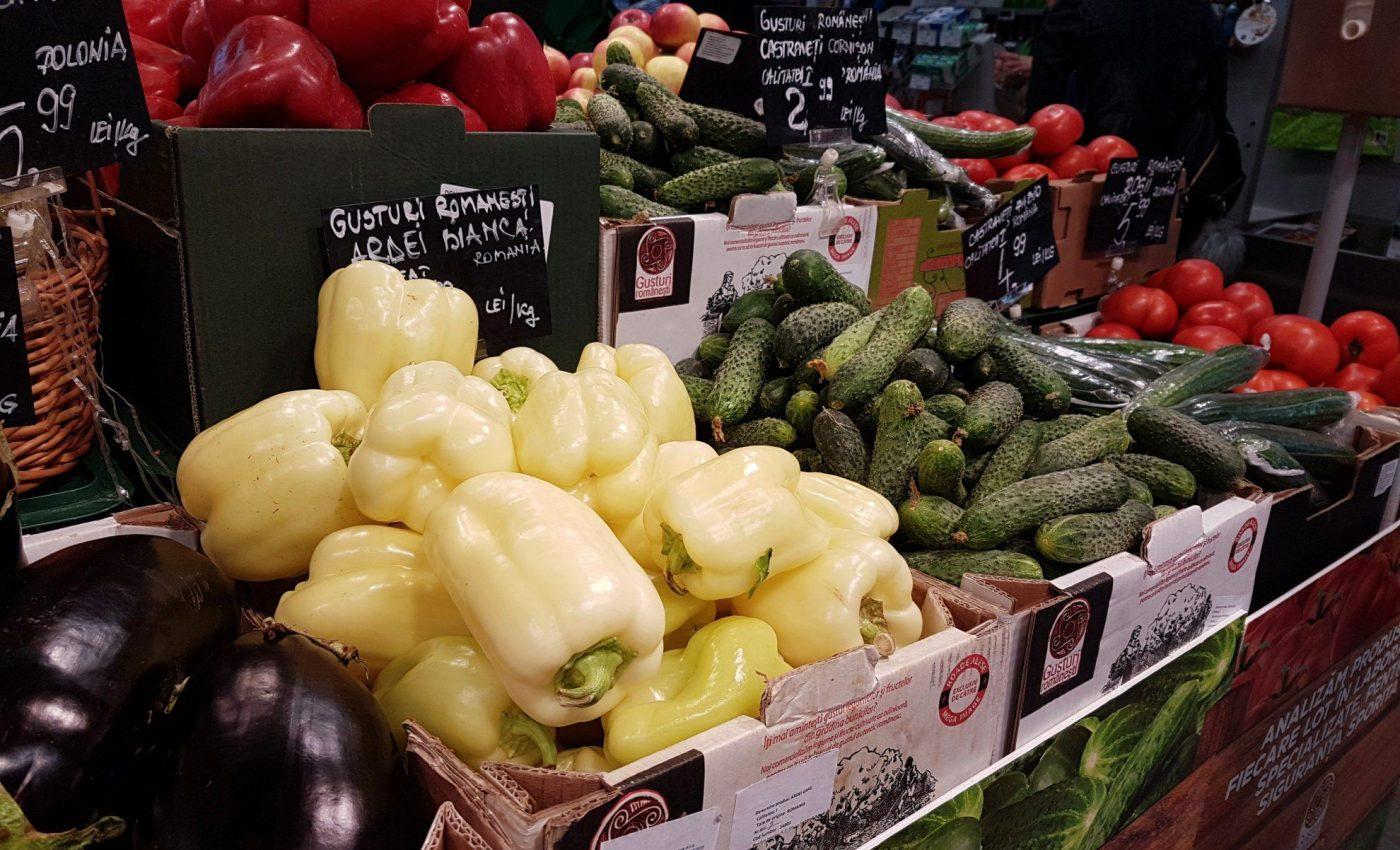 ירקות בסופר ברומניה