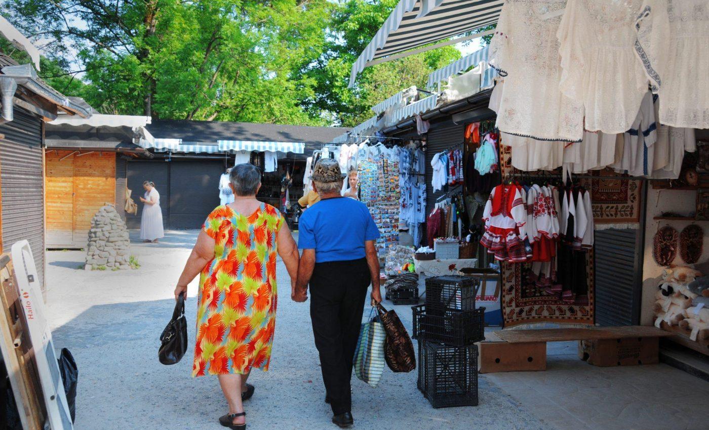 שוק בעיירה בראן