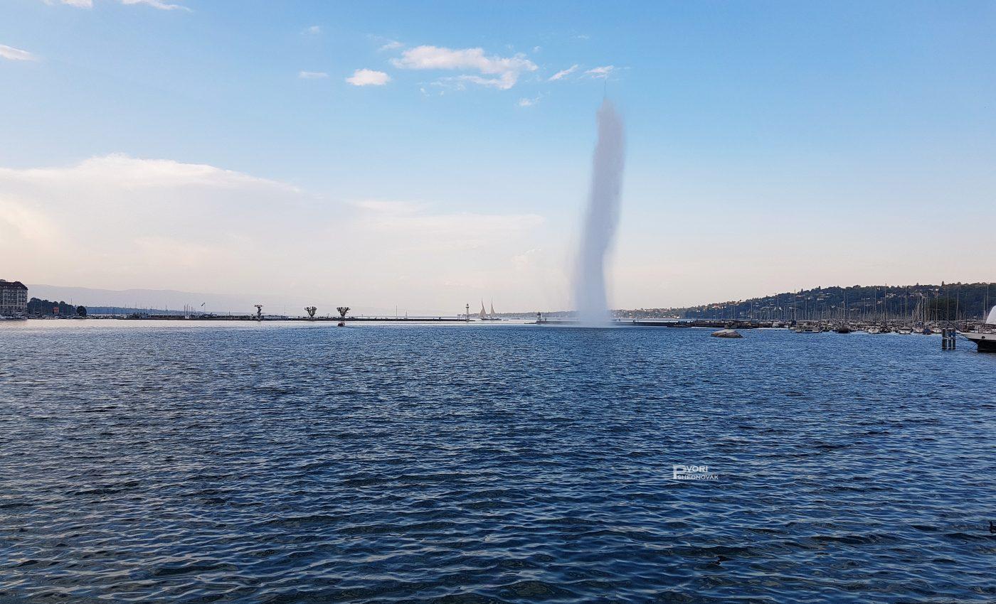 מזרקת סילון המים באגם ז'נבה