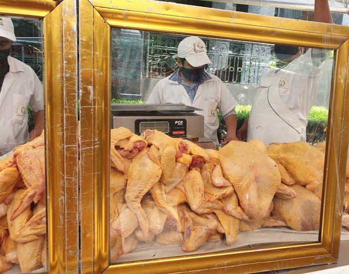 העופות צהובים כי התרנגולים אוכלים תירס. זה גם משפיע על הטעם של העופות
