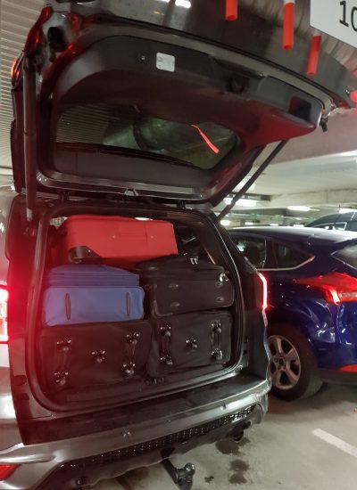 המזוודות נכנסו בדיוק!