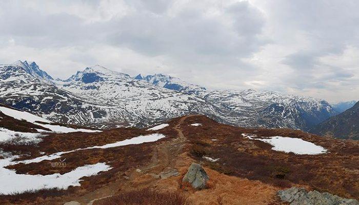 סוף הדרך... יוצאים ממנה ושוב שמש ואין בכלל שלג