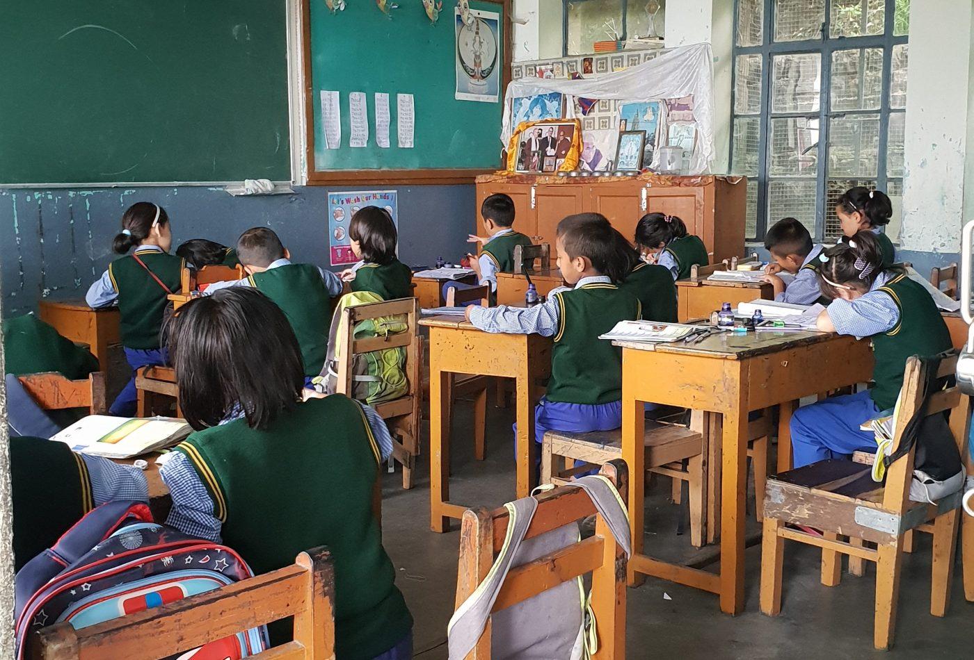 כתה בכפר הילדים הטיבטי