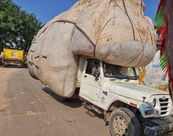 משאית של חציר לפרות