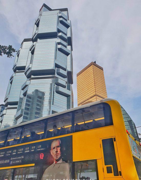 הונג קונג של רבי קומות ומדרגות נעות...
