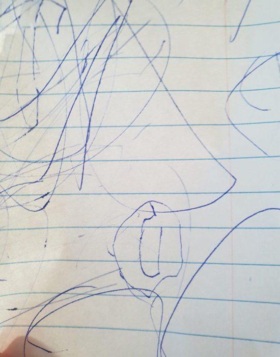 """יעל: """" אמא ציירתי OU"""""""