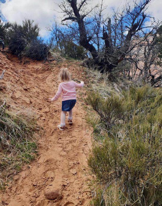 ילדים מטיילים בפארק הלאומי ציון