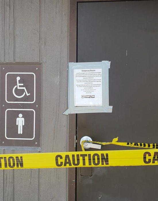 שירותים סגורים בגלל הקורונה
