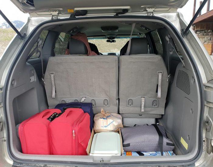 תא המטען שלנו לפני הנסיעה