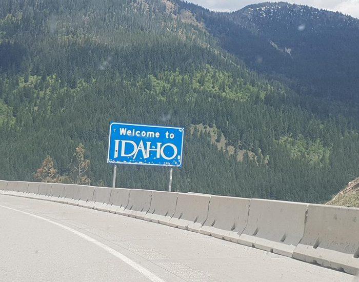 עוברים  ממונטנה דרך איידהו וושינגטון לאורגון. 4 מדינות ביום אחד