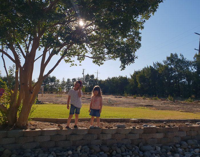 ולא צילמתי את הגינה עם המתקנים... אבל הם נהנו שם למרות החום