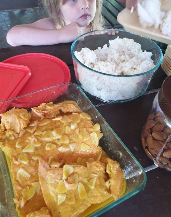 ארוחת צהריים שהבאנו מהבית
