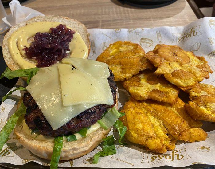 המבורגר עם גבינת סויה פרווה